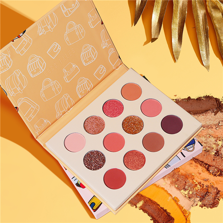 Custom eyeshadow palette private label cosmetics makeup products eyeshadow palette vendor Featured Image