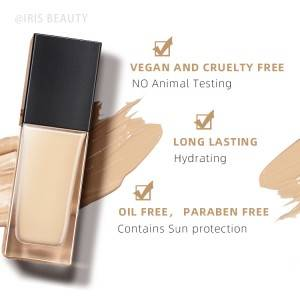 Wholesale foundation makeup custom vegan foundation make your own logo organic foundation private label