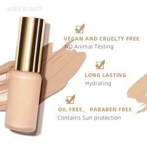 OEM face foundation makeup liquid wholesale custom private label vegan foundation cosmetic
