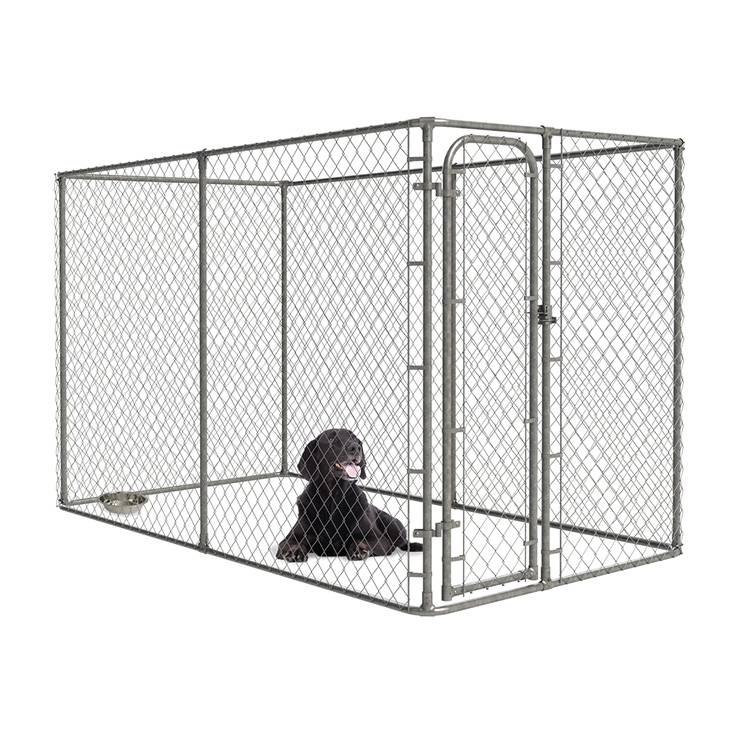 Durable Chain Link Large Dog Kennel Galvanized Outside