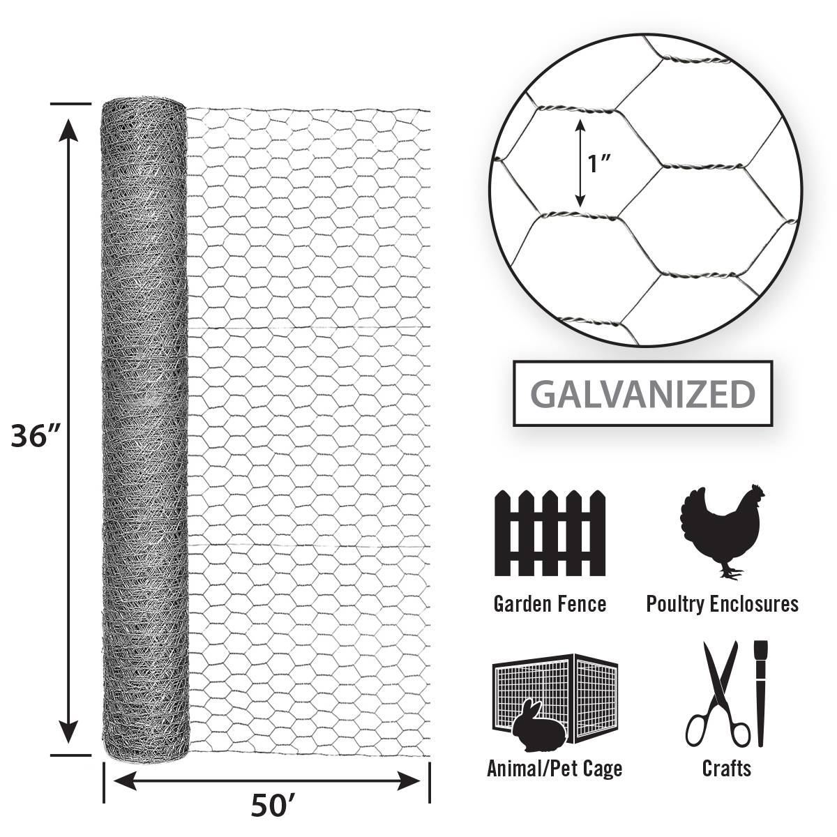 Construction Hexagonal Wire Mesh 30mm Double Line Wire Top Bottom