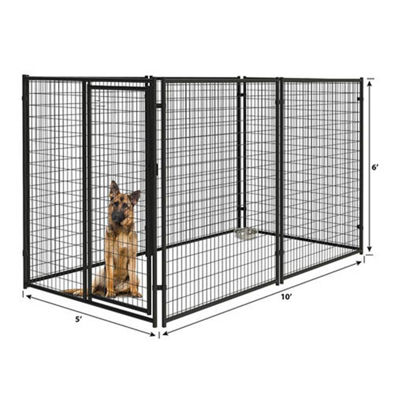 Outdoor large dog metal cage pet kennel and runs pre assembled