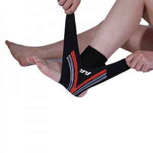 One piece ankle wrap support
