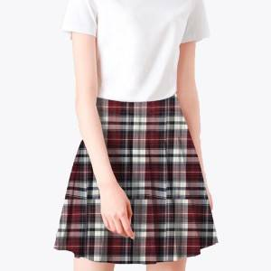 Poly viscose school uniforms fabric for skirt