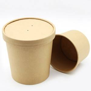 Paper soup cup with lid