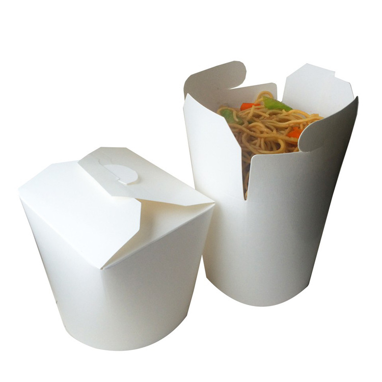 Disposable Kraft Paper Chinese Noodle Box food packing paper box Featured Image