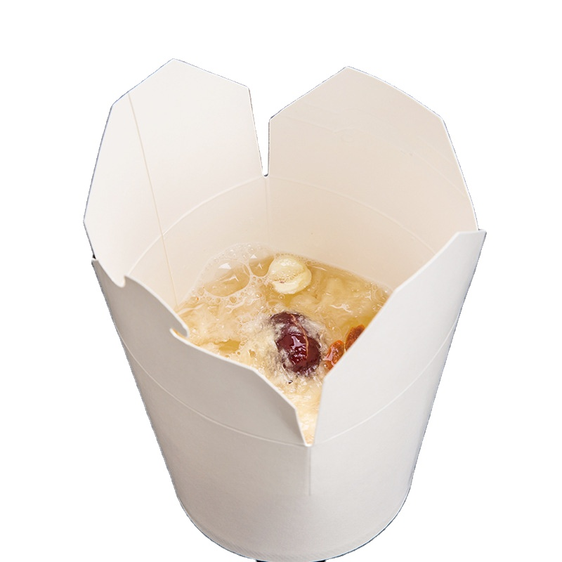 Disposable Kraft Paper Chinese Noodle Box food packing paper box