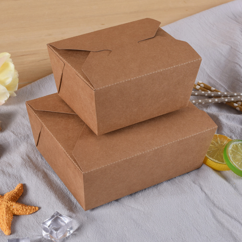 disposable kraft paper salad box,salad dressing takeaway food container,paper box for sushi