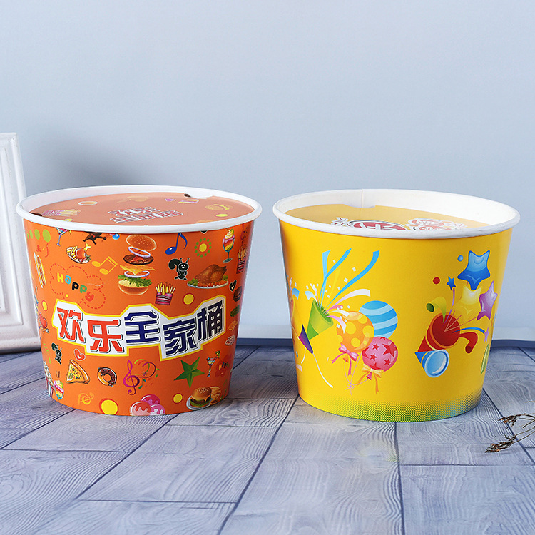Popular fried chicken paper bucket fast food cup take away