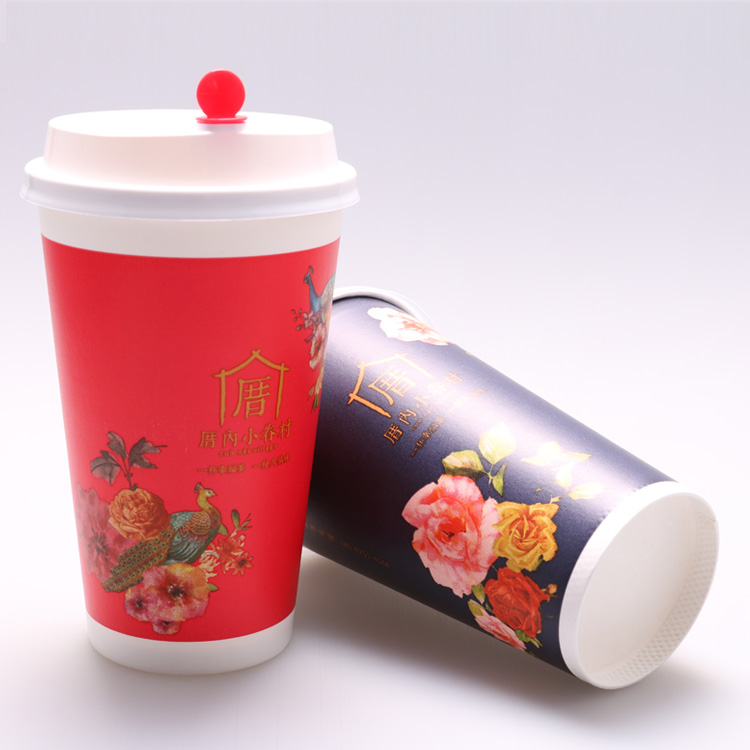 Single layer paper cold cup
