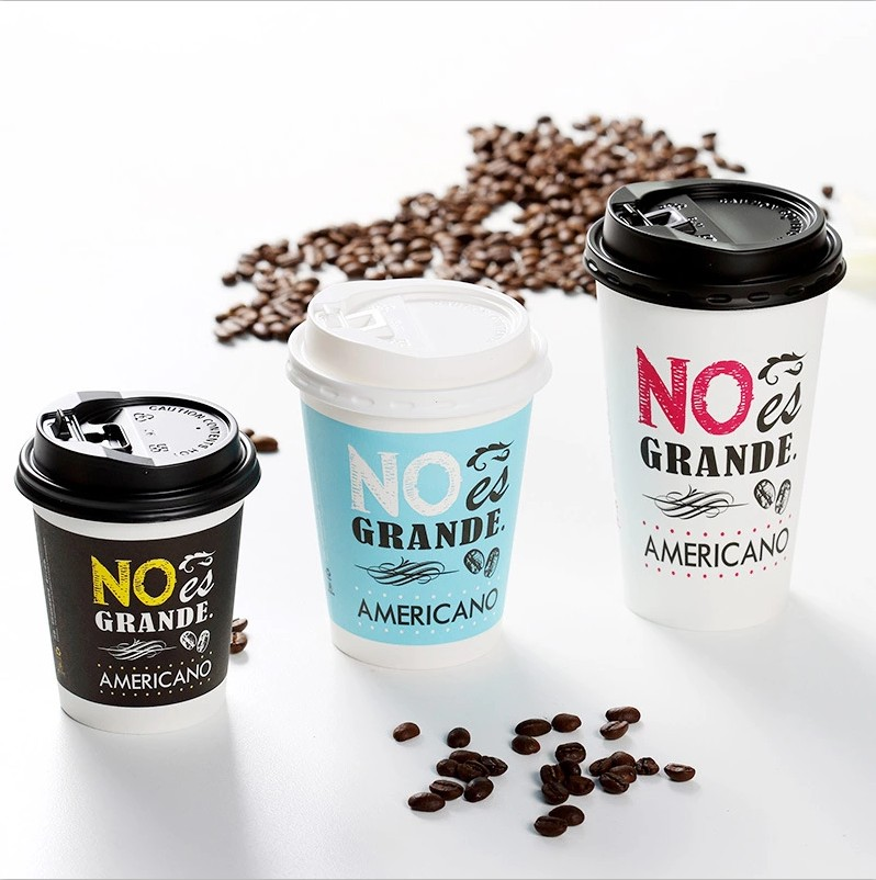 18P Coated Milk Tea Coffee Cup