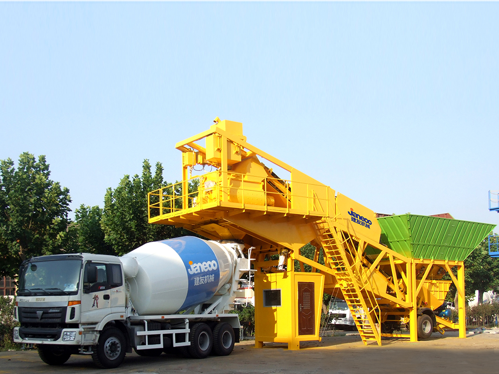 Mobile concrete batching plant Featured Image