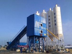 Belt type concrete batching plant