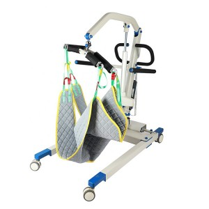 Low noise portable patient lift with remote control