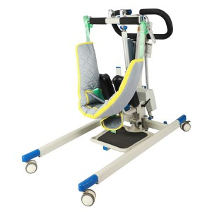 Electric patient lifter with adjustable base
