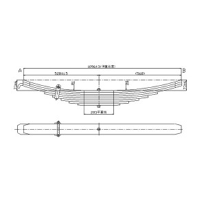 TRA-2732 trailer part leaf spring parabolic leaf spring