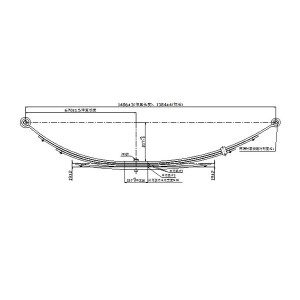 43-1199 truck suspension part samll leaf spring