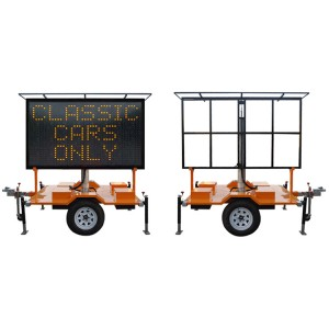 VMS traffic trailer-single color screen