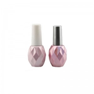 Wholesale 10ml Clear Transparent Square Nail Polish Glass Bottle with Brush Cap