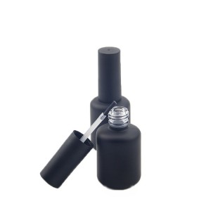 Custom Made 5ml-15ml Cylinder Glass Uv Gel Empty Nail Polish Bottle With Brush