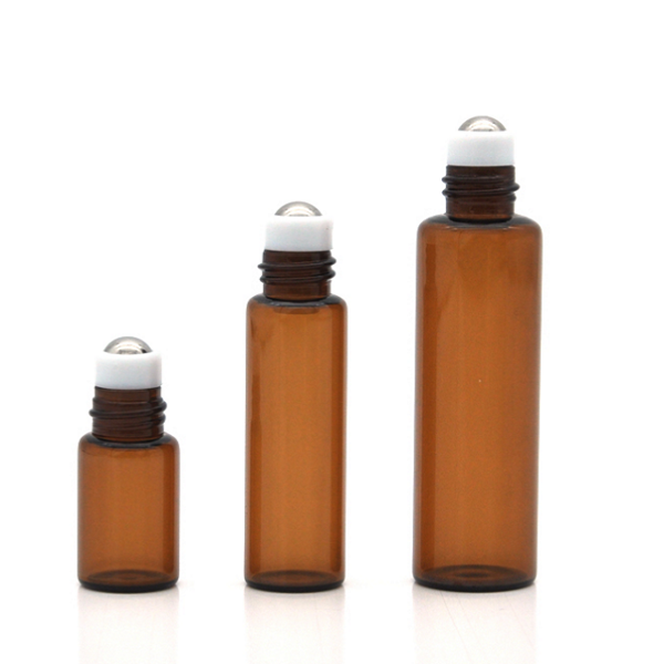 10ml amber roller ball bottle cosmetic package Featured Image