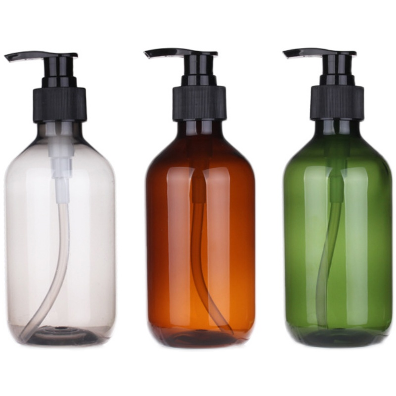 factory stock wholesale 250ml/500ml shampoo lotion glass pump bottle Featured Image