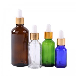 50ml color essential oil skin care glass dropper bottle