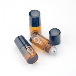 3ml/5ml amber light-proof roller bottle cosmetic packaging