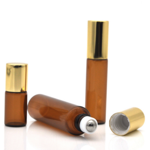 10ml amber roller ball bottle cosmetic package