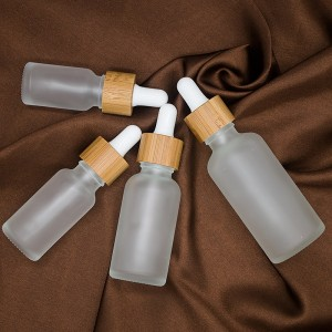 Hot selling dropper bottle essential oil bottle frosted glass bottle 10-50ml cosmetic container