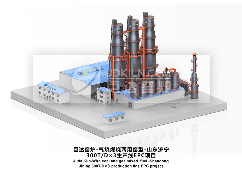 Juda kiln -200T/D 3 production lines -EPC project
