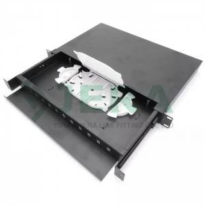 Ftth rack mount fiber optic distribution frame, 1U-12-SC