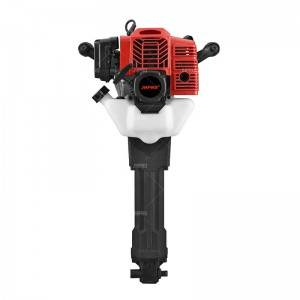 JHPRO JH-100 Hand Hold Two-Stroke 1900W 52cc Petrol Jack Hammer Rock Drilling Gasoline Hammer