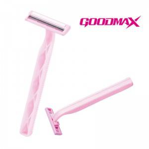 Two Layer Of Sweden Stainless Steel Blade Disposable Razor With Private Label  SL-3005L
