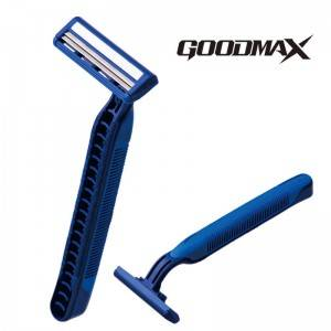 Economic classic design rubber handle disposable twin blade men razor SL-3006L