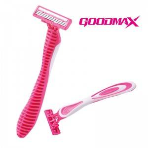 High quality safety stainless steel triple blades shaving disposable razor SL-3103