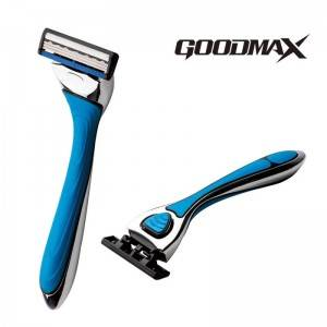 GoodMax Changeable Men Triple Blade Disposable Shavers metal handle system razor For Travel  SL-3200