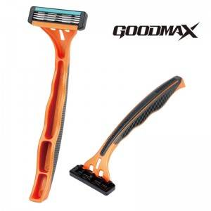 GoodMax good quality triple blade razor, open back washable blade SL-7004