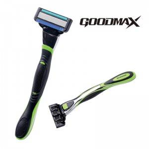 Six Open Back Blade Blade Mens system Razor Shaving 8105