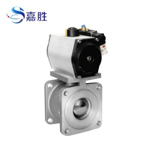 Pneumatic aluminium alloy ball valve