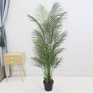 Hot sale Plastic palm plants factory artificial palm tree for indoor decoration