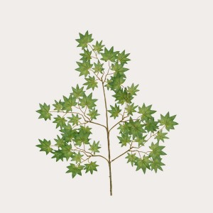 New wholesale decorative green Artificial maple leaves