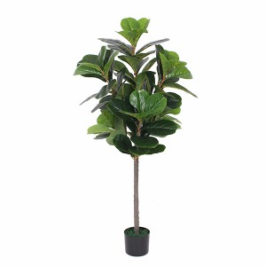 Reasonable price event use OEM design green indoor artificial fiddle trees artificial ficus plant