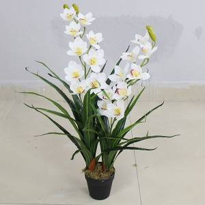 High Simulation Real Touch Artificial Orchid Plants Faked Plants for Wedding Home Garden Decoration