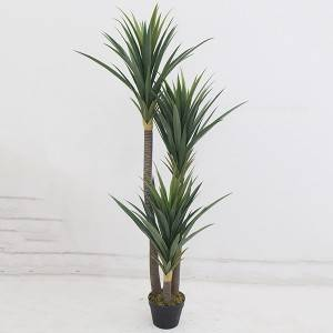 New product potted plants artificial yucca plants with pot for home decoration