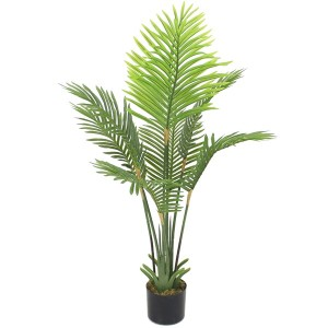 New arrival artificial palm tree green plastic tree