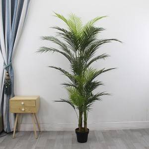 High Quality Artificial Decorative PE 180CM Plants Artificial Landscaping Palm Trees For Sale Outdoor UV Resist