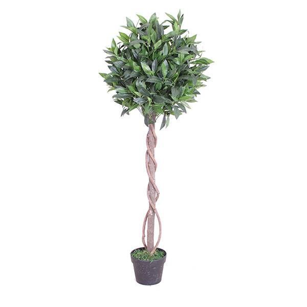 Hot sale topiary plant artificial bonsai bay tree factory price high quality cheap artificial topiary bay trees Featured Image