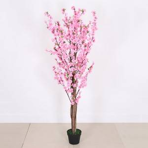 Cheap and hot sale Artificial peach blossom flower tree for home decoration