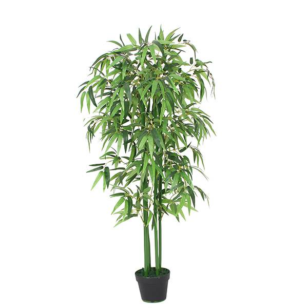 Hot selling green real touch for home decoration artificial bamboo leaves plants natural bamboo trunk bonsai Featured Image